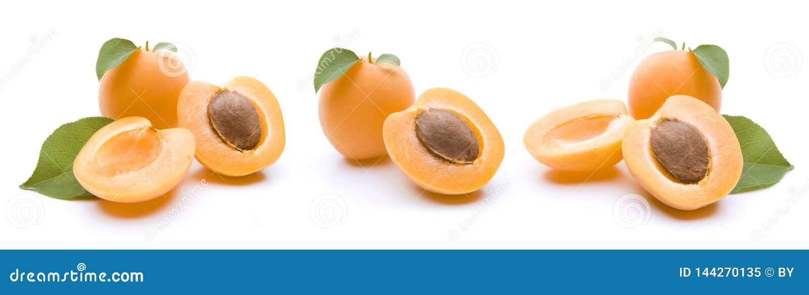 Abricots d isolement