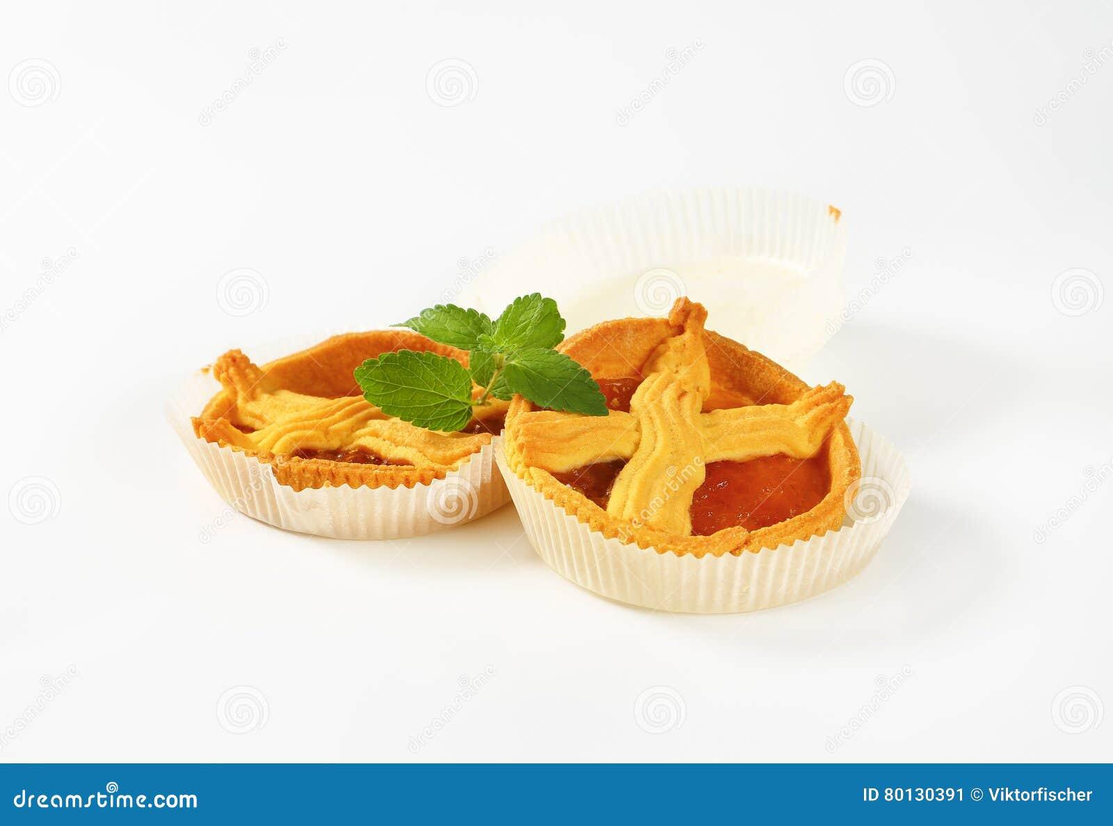 Abrikozencakes met rooster