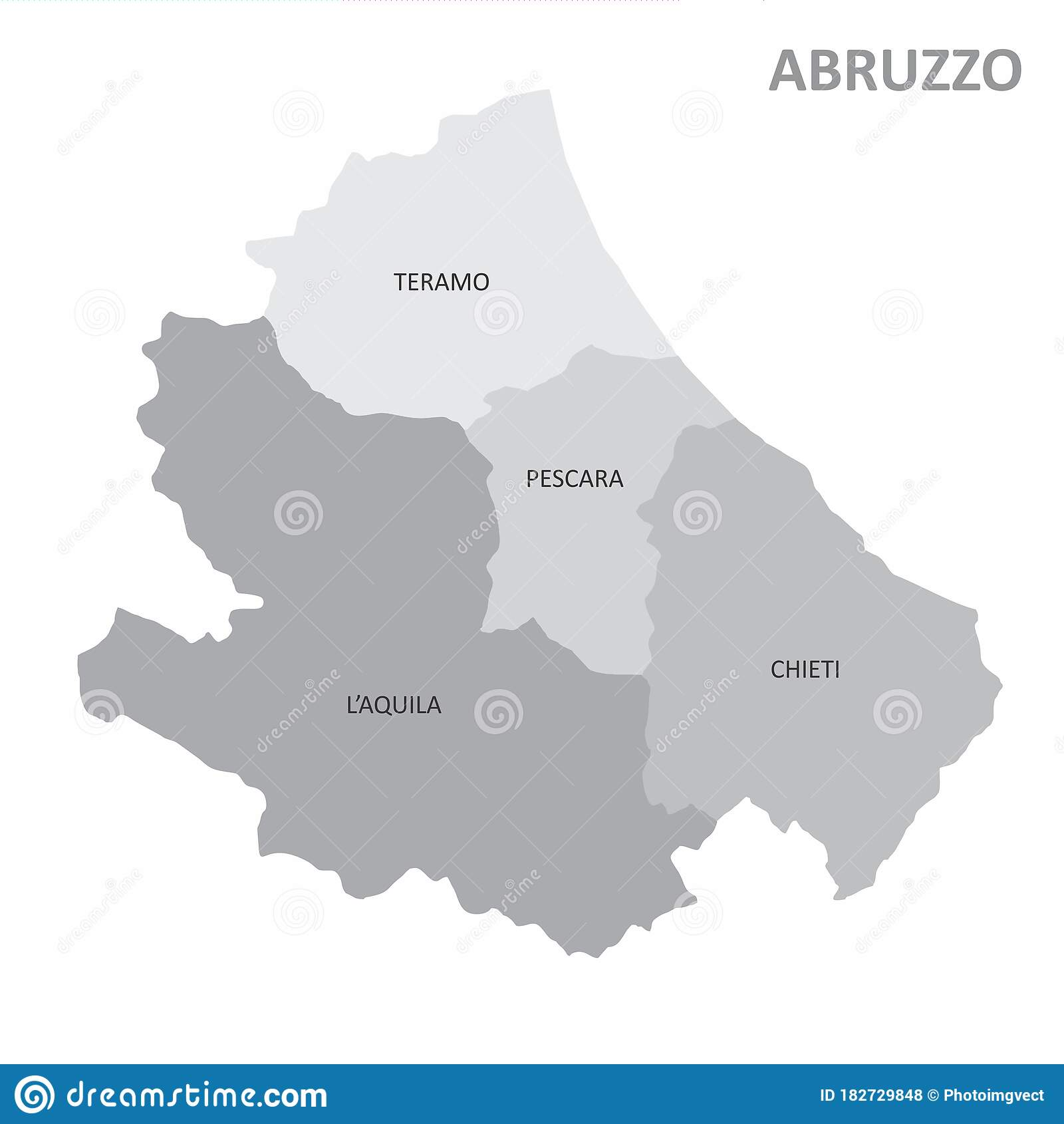 Picture of: Abruzzo Region Map Stock Illustration Illustration Of Part 182729848