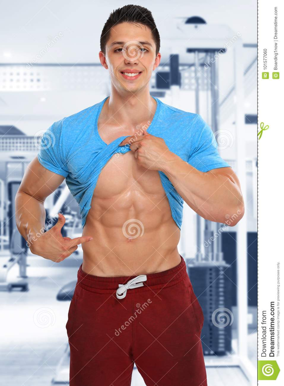 Abs Abdominal Six Pack Muscles Bodybuilder Bodybuilding Gym Flex Stock Photo Image Of Abdominal Studio 101577060