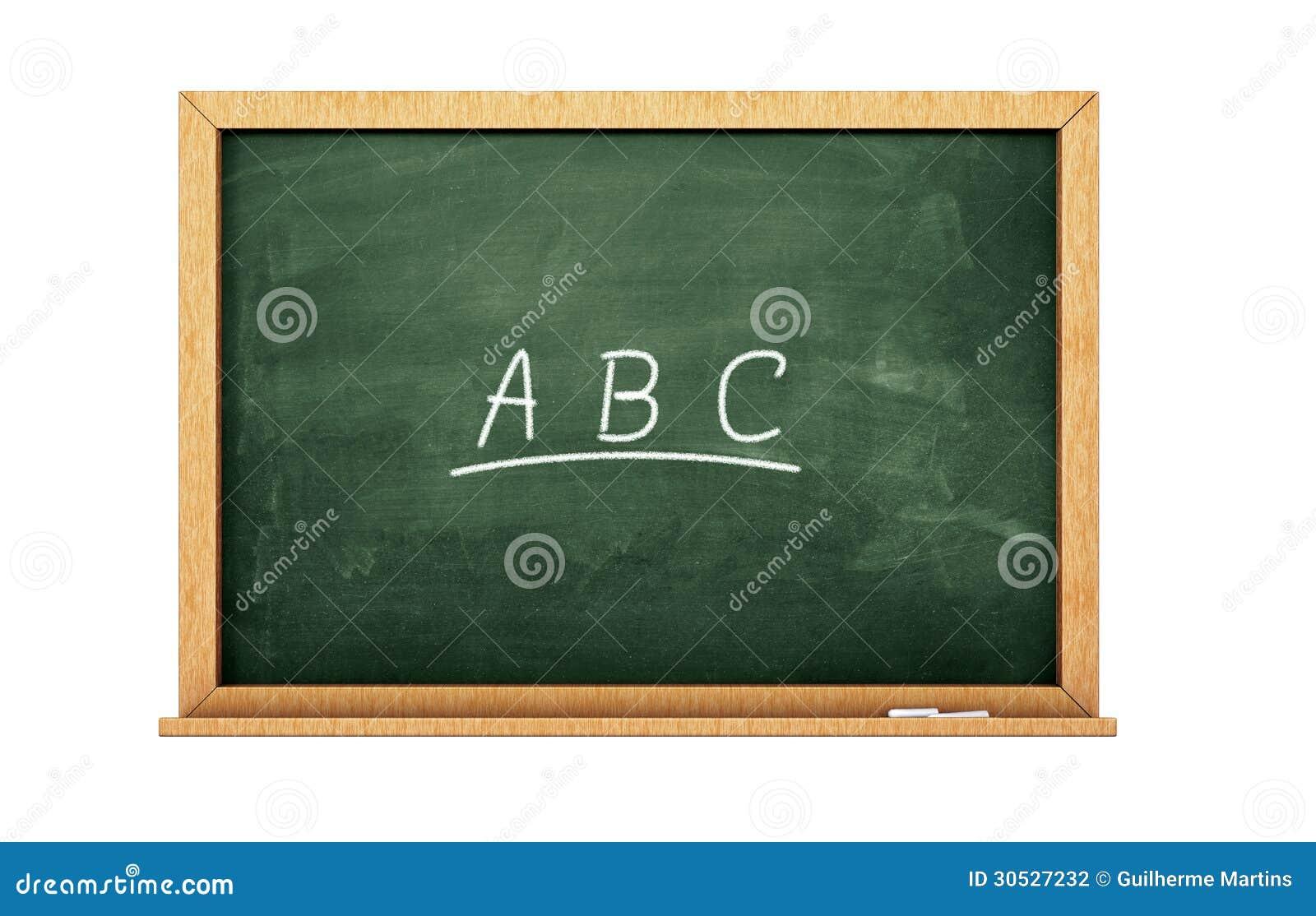 abc chalkboard stock photography image 30527232