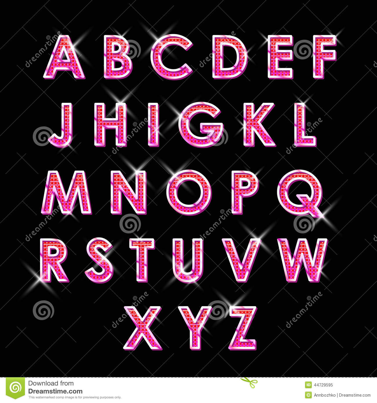 ABS neon letters