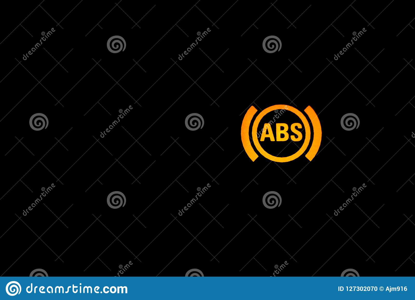 Abs Warning Light Sign Car Light Indicator Orange Abs Indoor