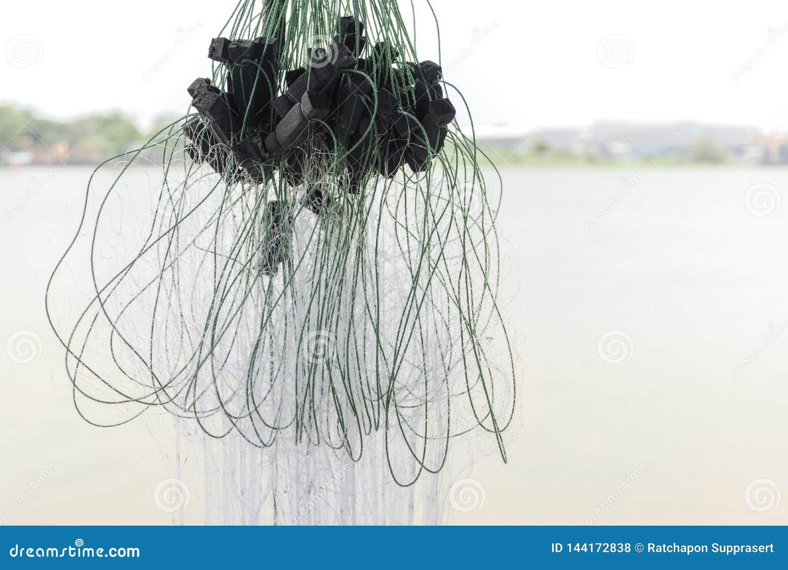 Abschluss herauf Fischernetz