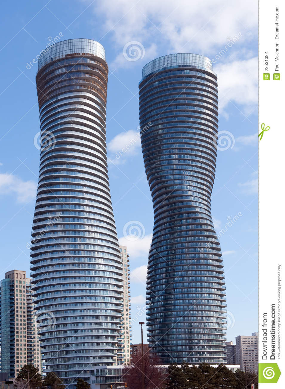 The absolute world condominium towers editorial for Absolute towers