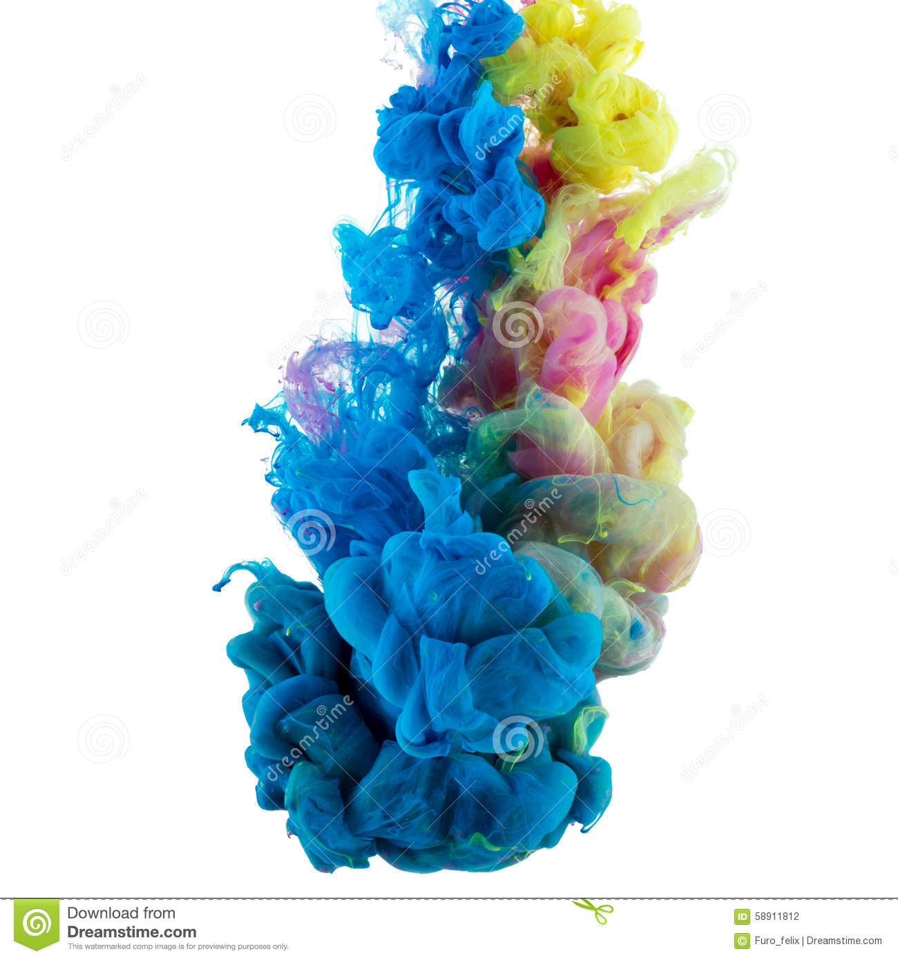 absract color paint in water stock photo image of smoke motion