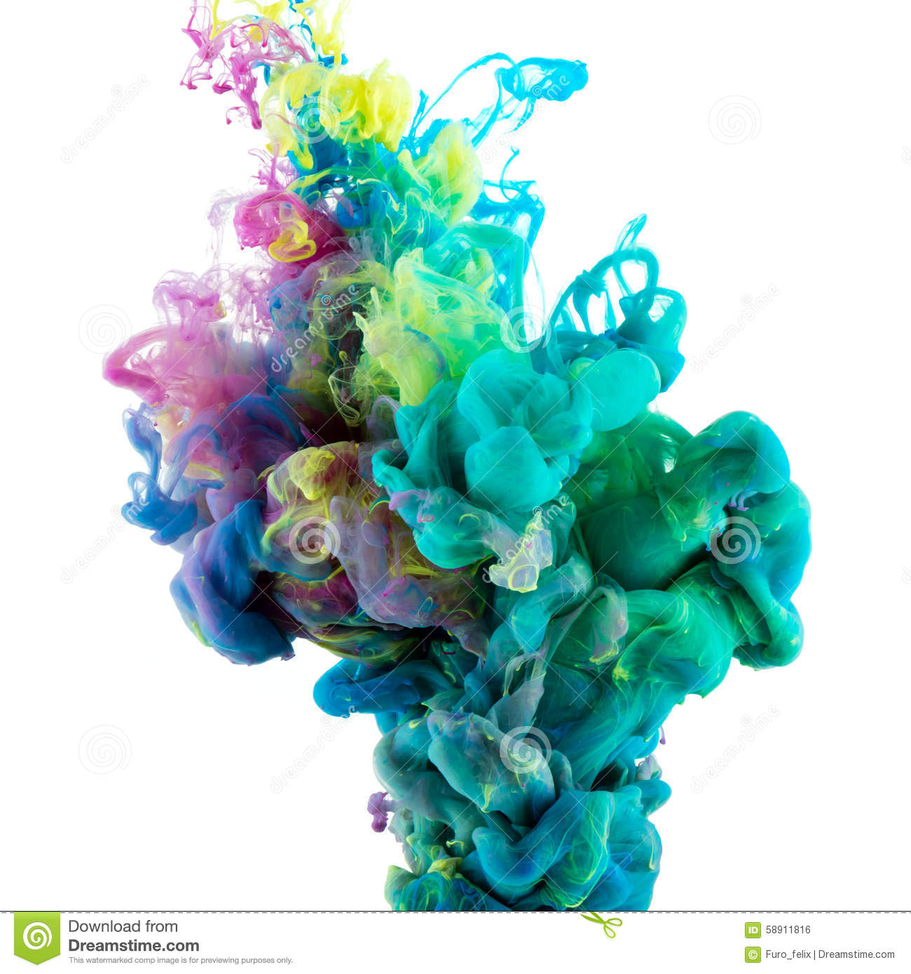 Absract color paint in water
