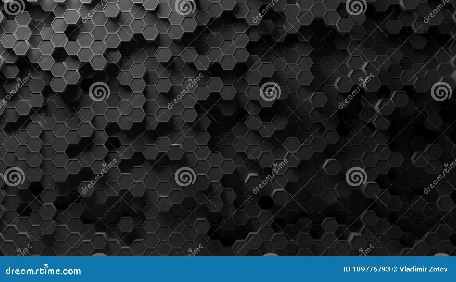 Absract-Hexagonmuster Wiedergabe 3d