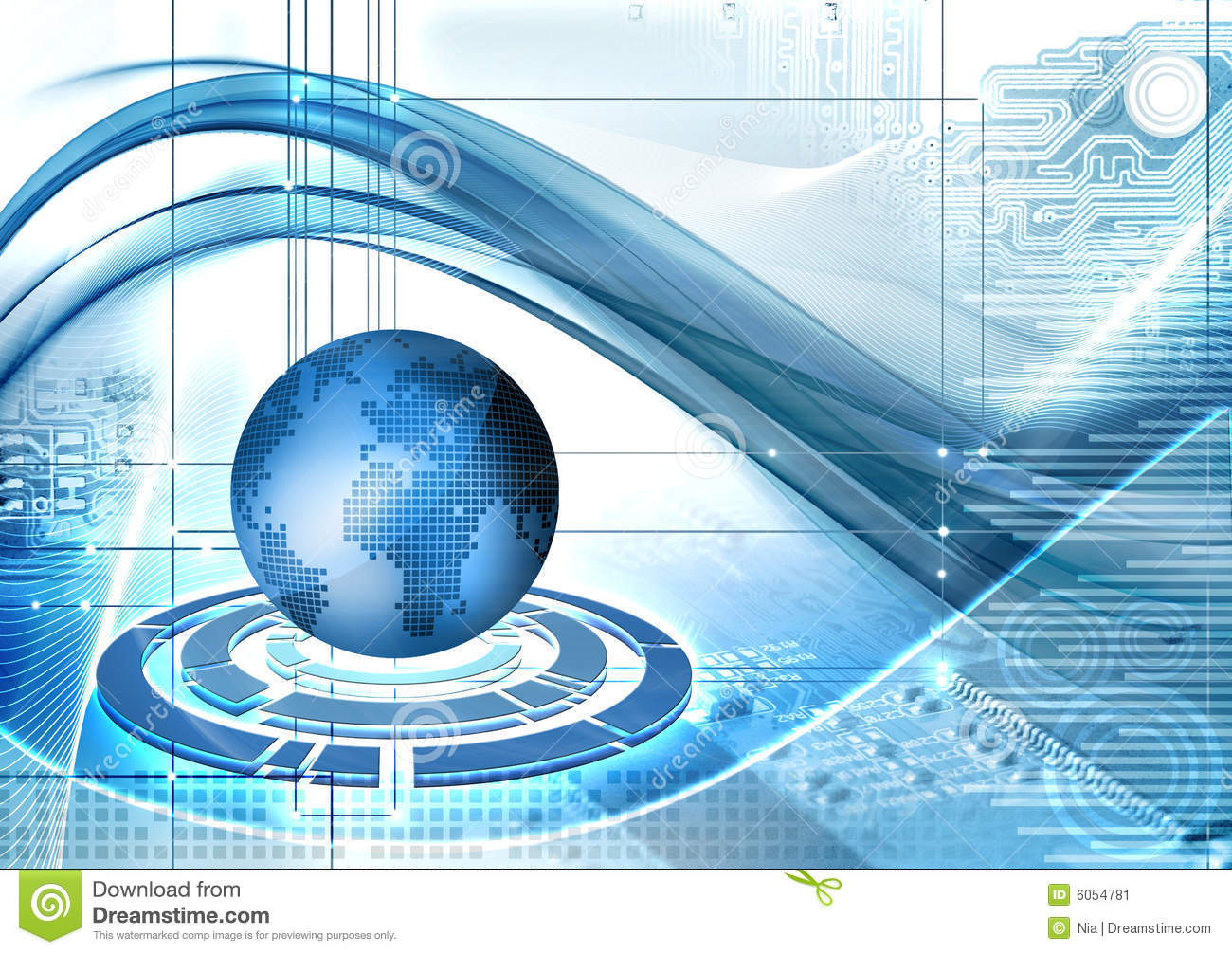 Abstarct Technology Background Stock Image - Image: 6054781