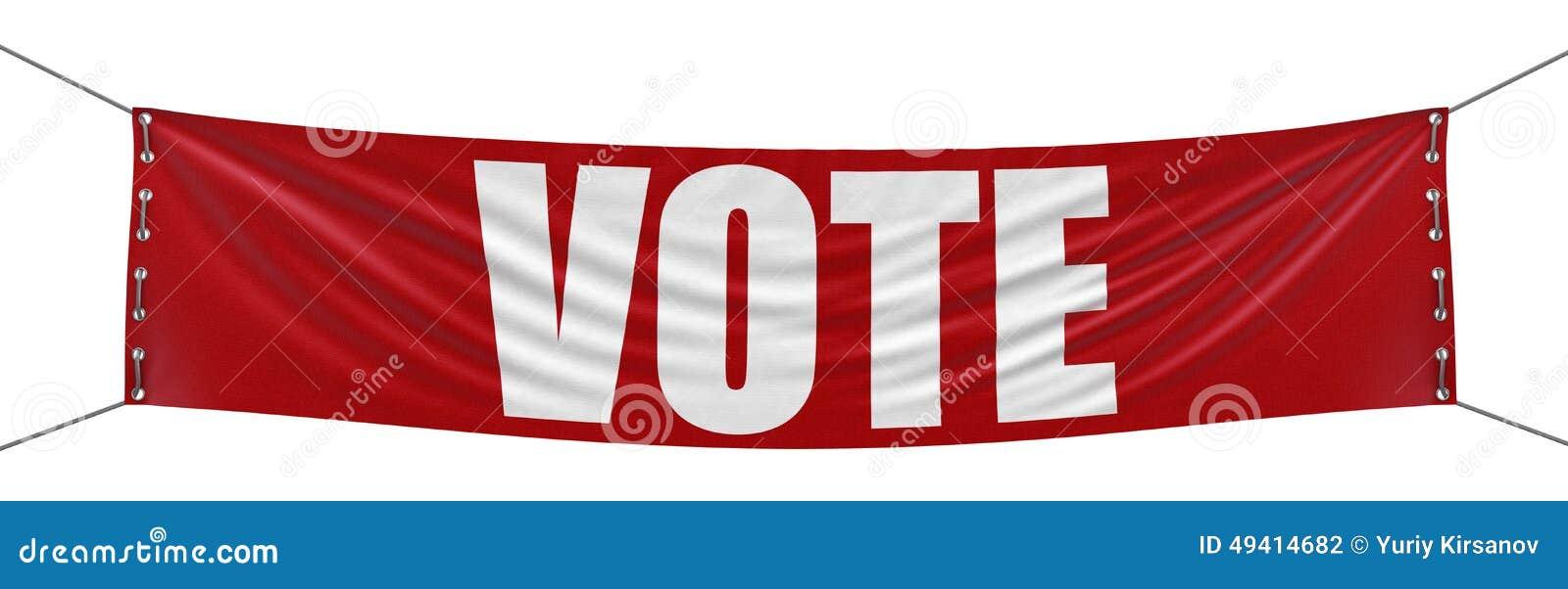 Download Abstimmungs-Fahne (Beschneidungspfad Eingeschlossen) Stock Abbildung - Illustration von freiheit, vertretung: 49414682