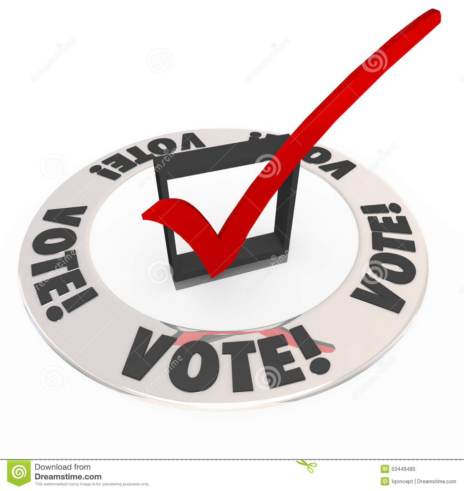 Abstimmungs-Kontroll-Mark Box Election Choose Popular-Wahl-Kandidat
