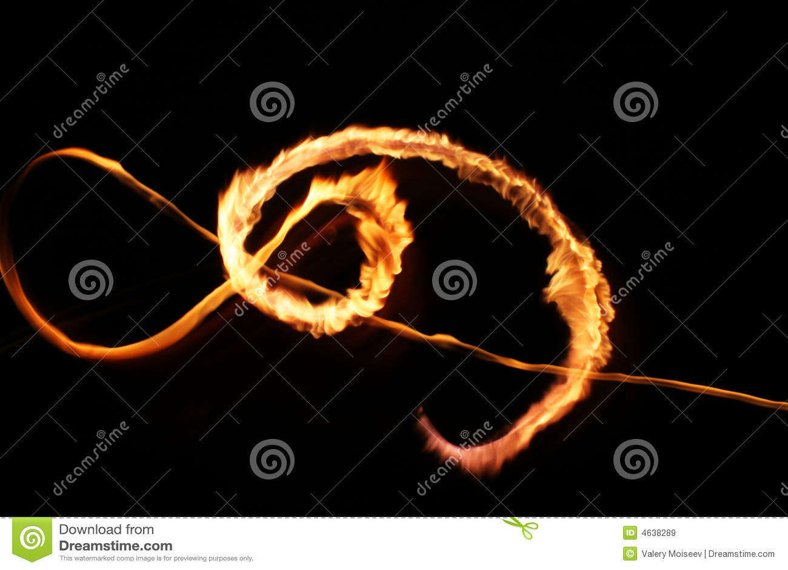 Abstracção da luz da flama da estrela