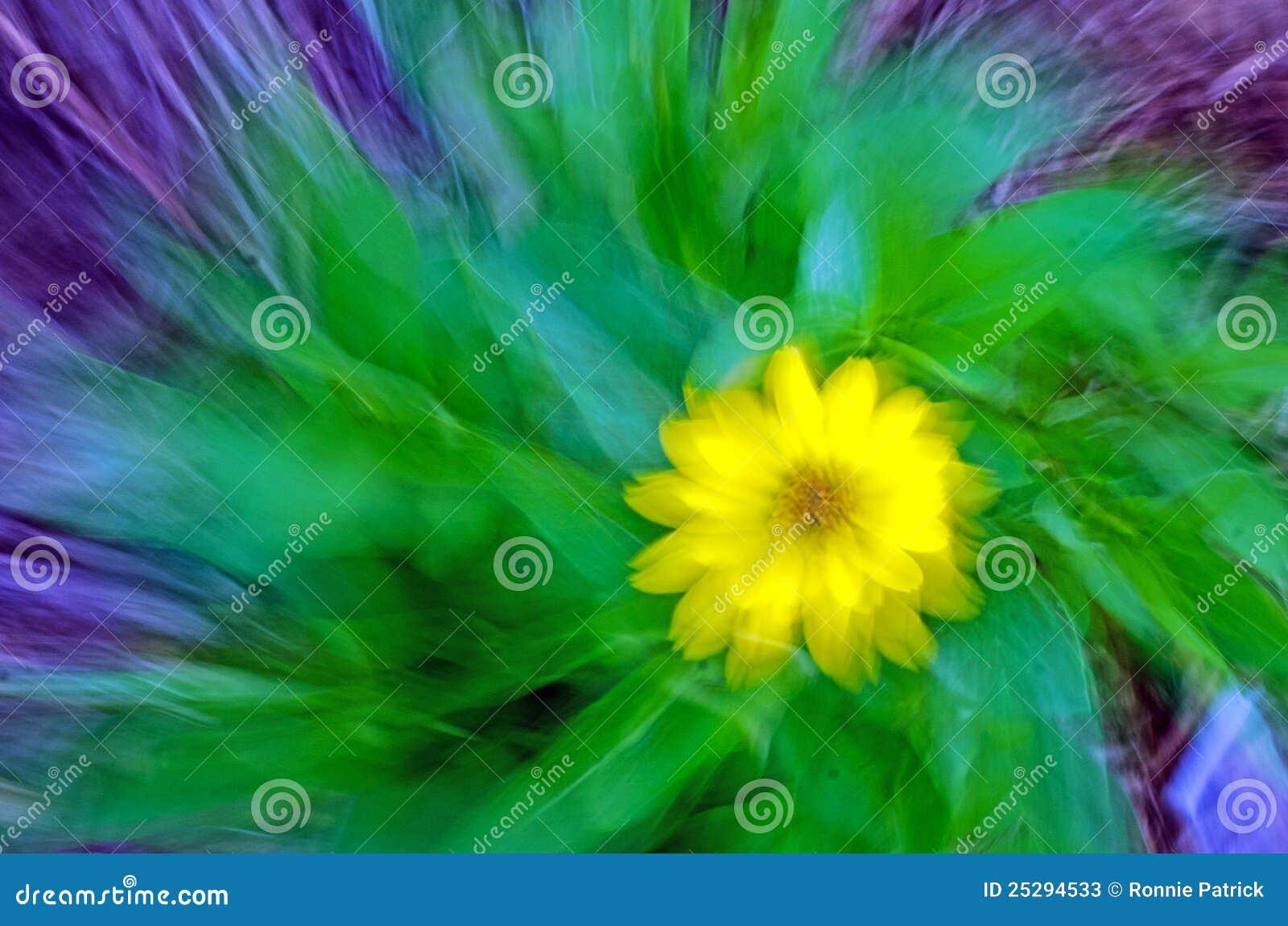 Abstracción amarilla de la flor
