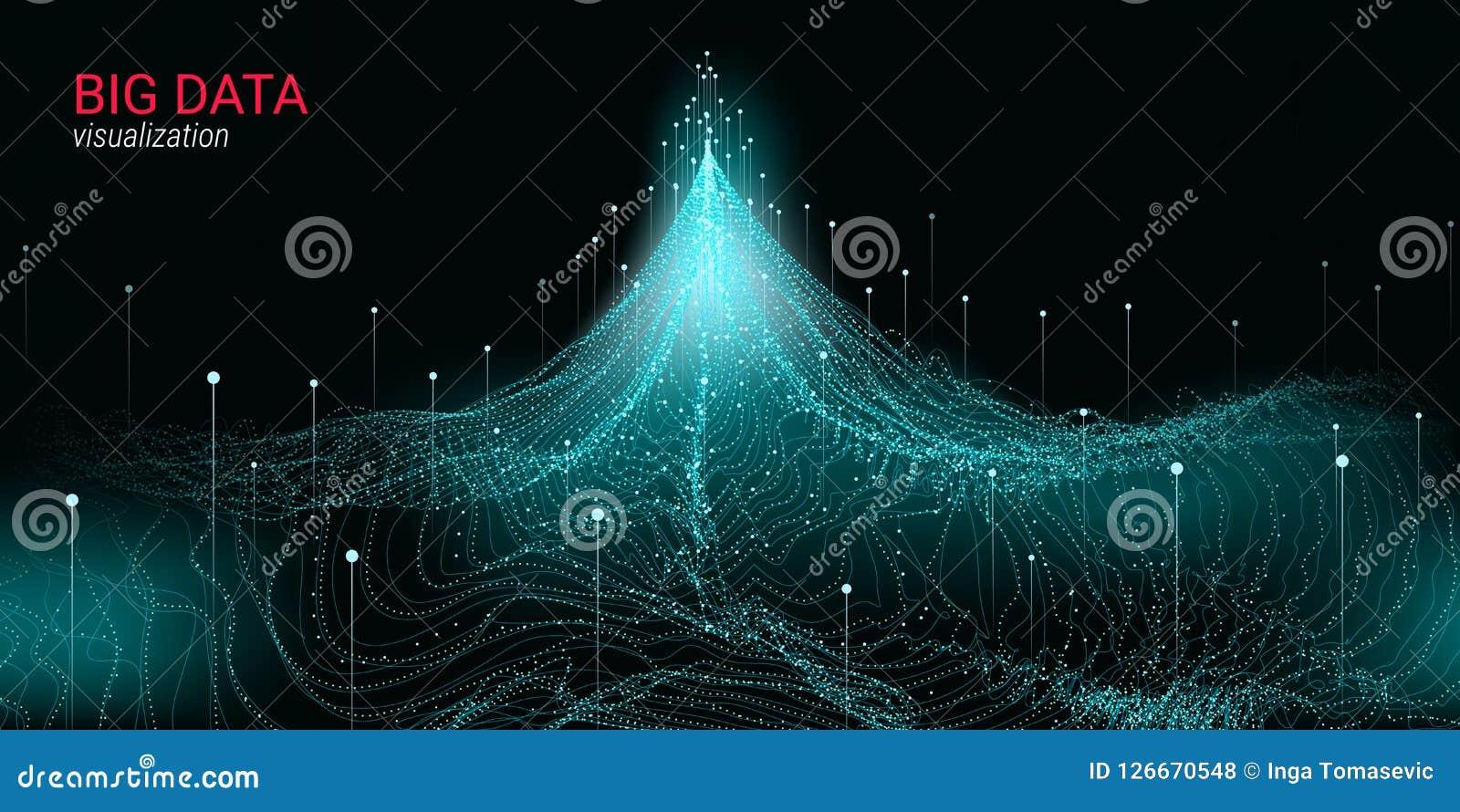 Abstracción futurista Visualización grande de los datos