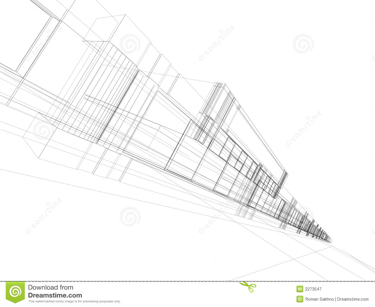 Abstract 3d office building royalty free stock photography for Construction 3d