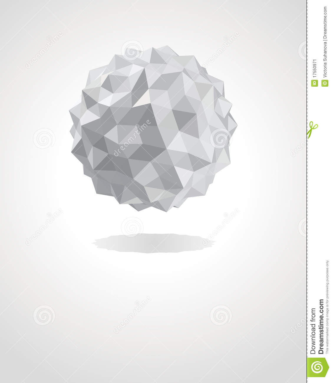 Abstract 3d Origami Paper Sphere Stock Vector - Image ... - photo#41