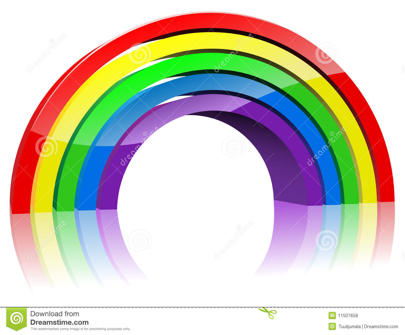 Abstract 3D Rainbow Stock Vector. Illustration Of Graphic