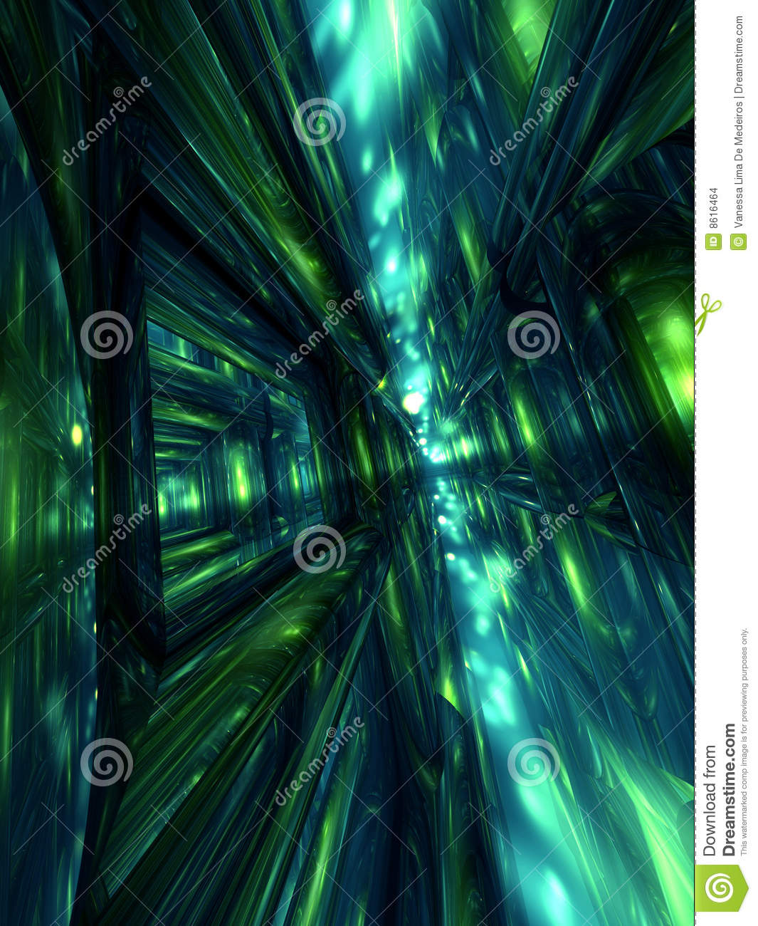 Abstract 3D Render Green Background Wallpaper Stock