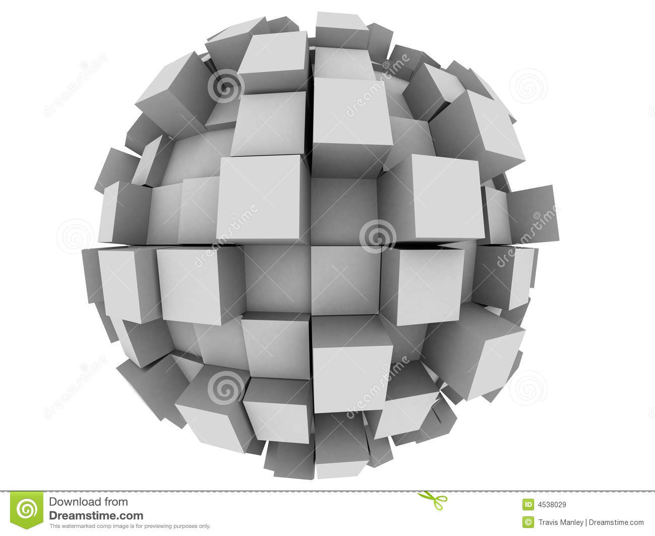 Abstract 3d Sphere