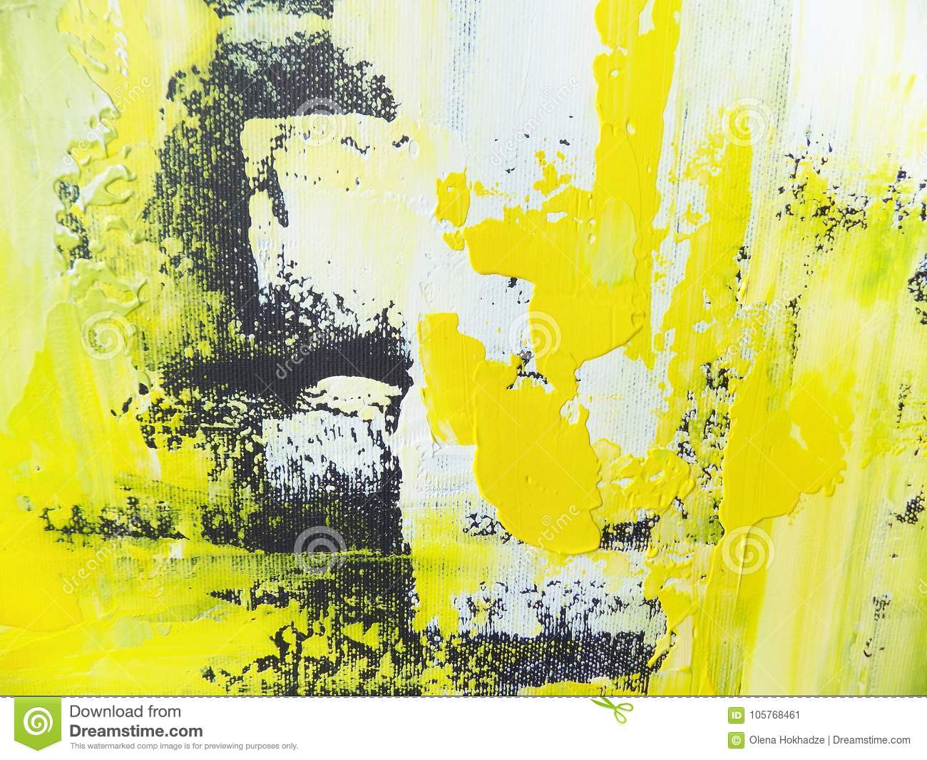 Abstract Acrylic Hand Painted Background Stock Image - Image of ...