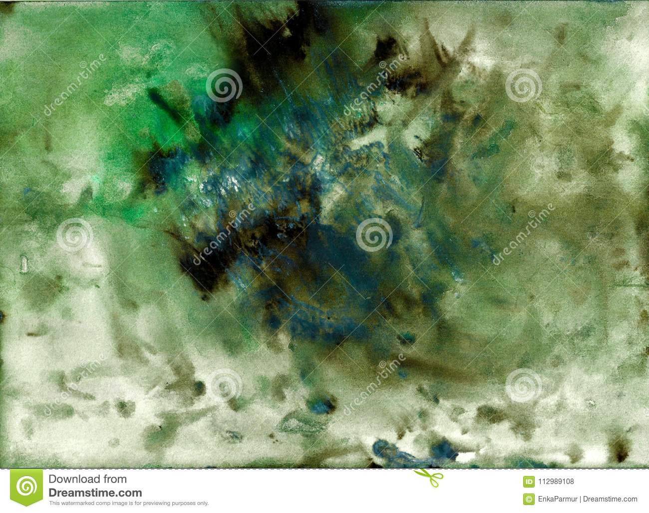 Abstract Acrylic Painted Background Mixed Green Black Blue Textured Vibrant Color Grunge Template For Your Design Composition Scrapbooking