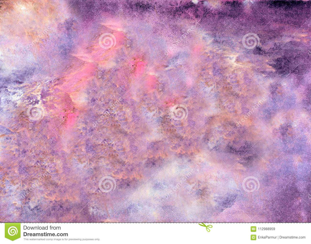 Abstract acrylic painted background. Pink violet textured vibrant color. Grunge template for your design.