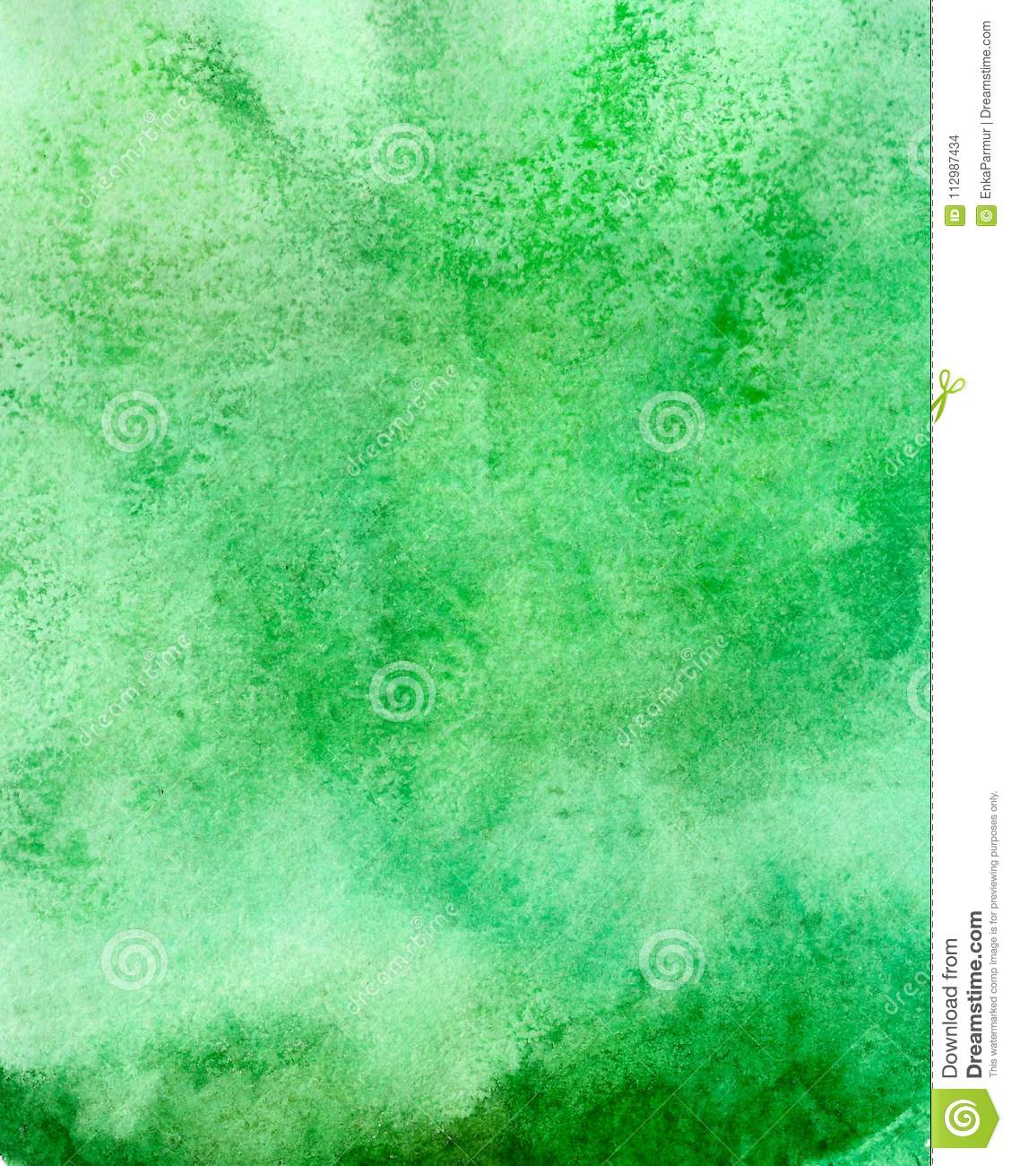 Abstract acrylic painted empty background. Green watercolor texture. Grunge template for your design.