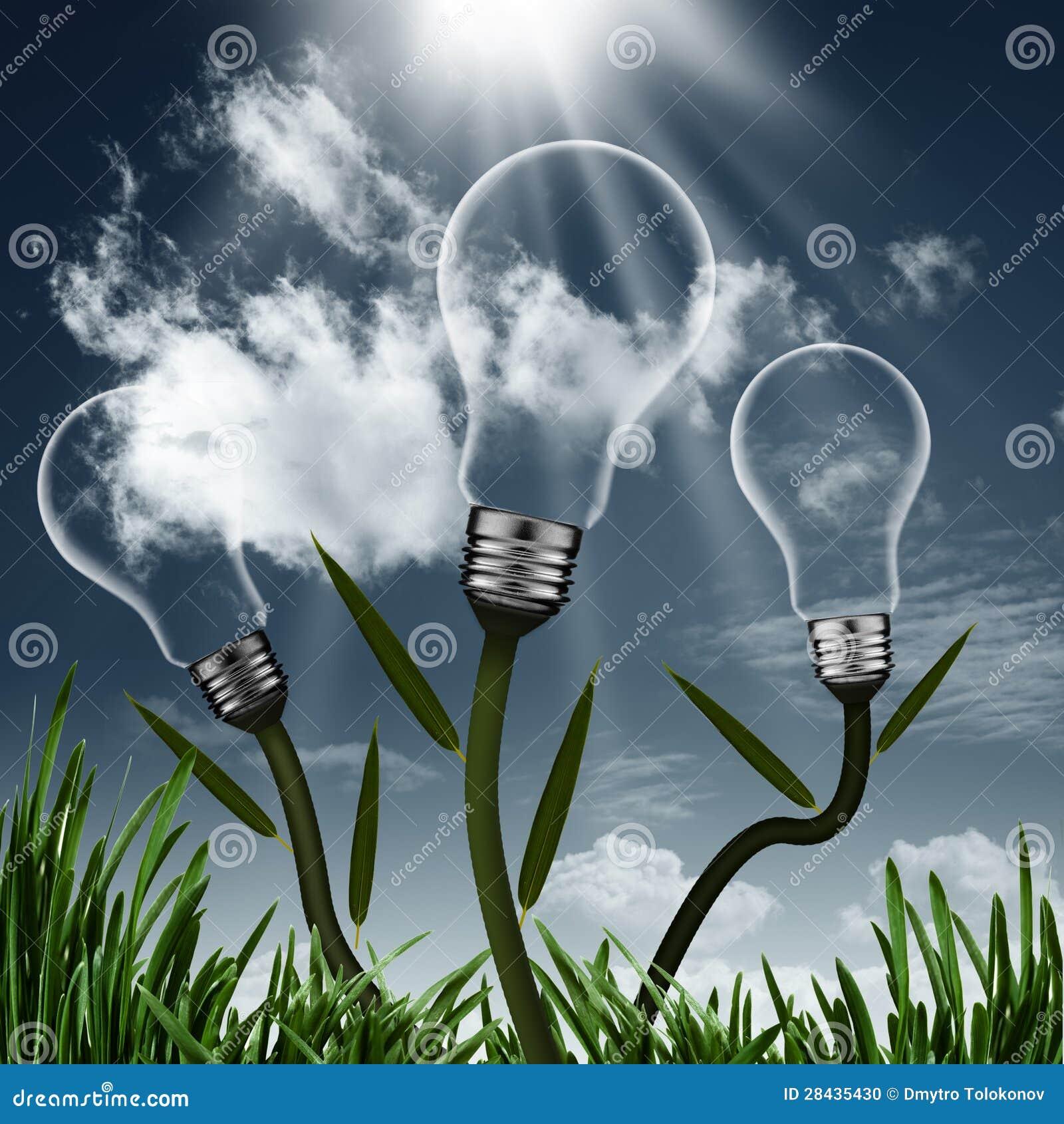 Abstract Alternative Energy Background Stock Photo