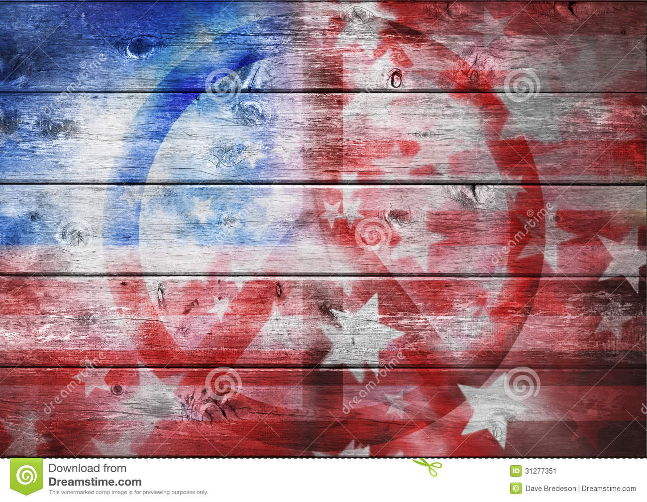 Abstract American Peace Flag