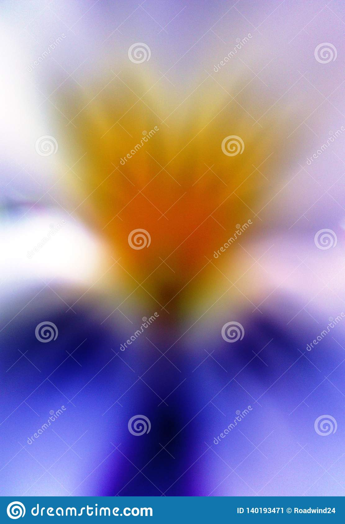 Abstract angel like flower viola tricolor