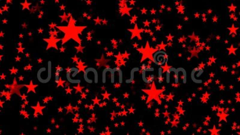 abstract animated computer screen saver with red stars stock footage