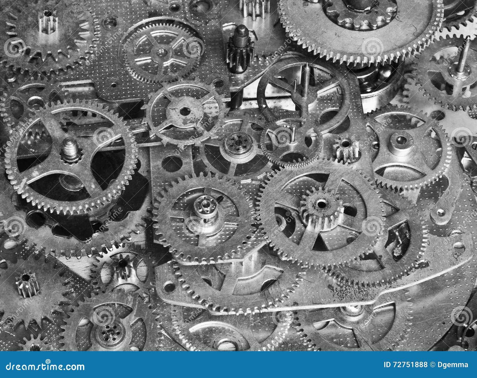 Abstract apparaat Gestileerde collage van een mechanisch apparaat