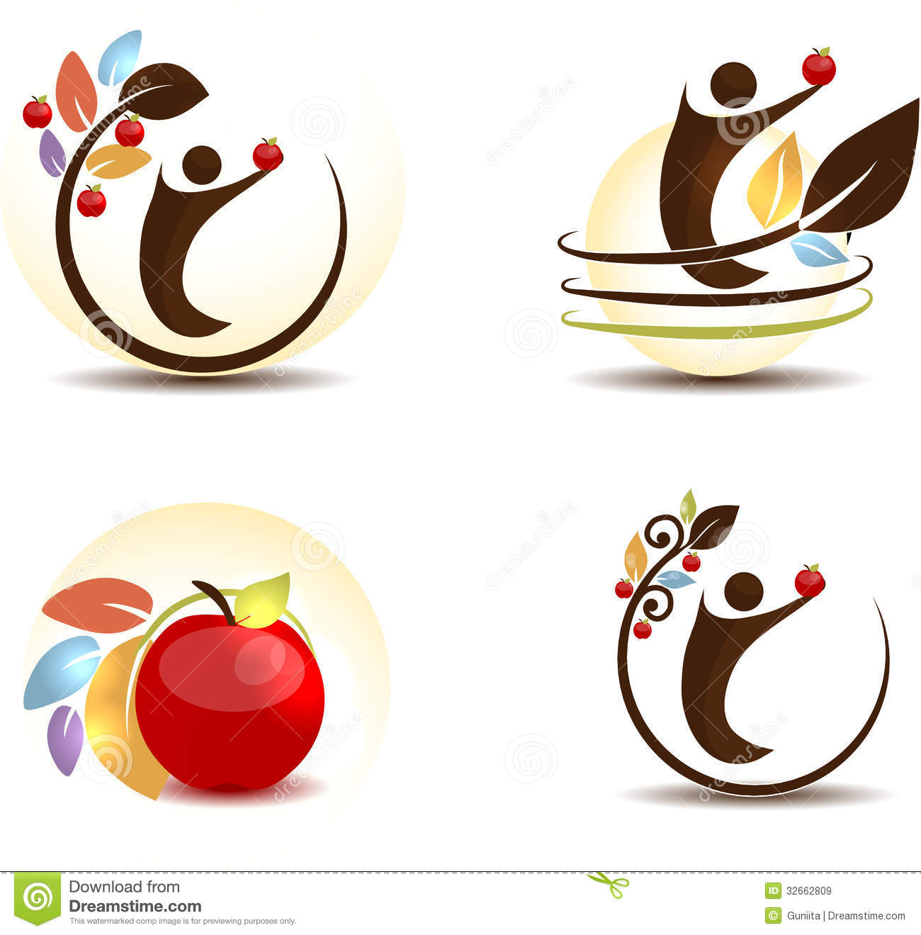 Abstract Apple Tree And Human Royalty Free Stock Images ...