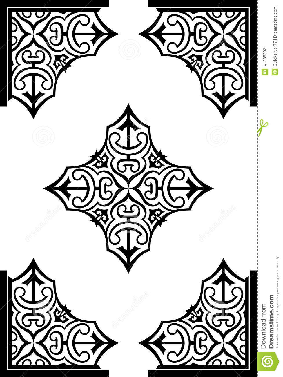 Abstract Arabesque Decor Ornaments Stock Vector Illustration Of