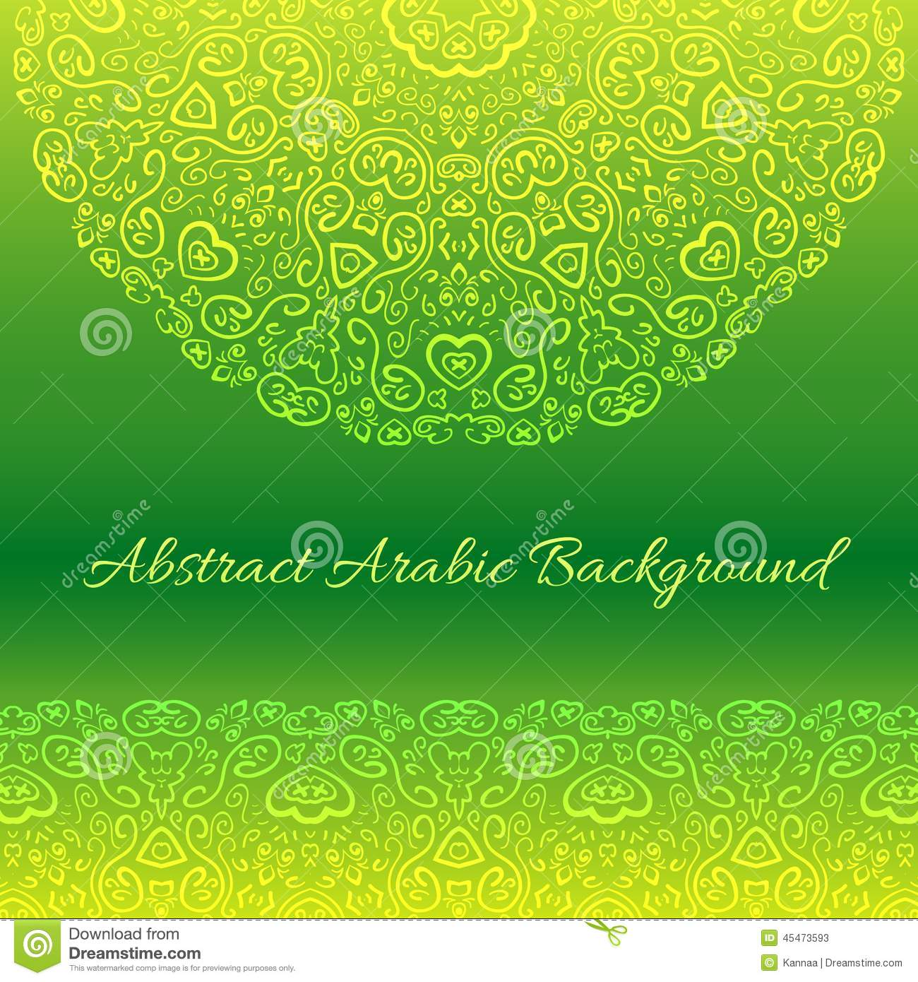 Abstract Arabic Background Vector Illustration Stock