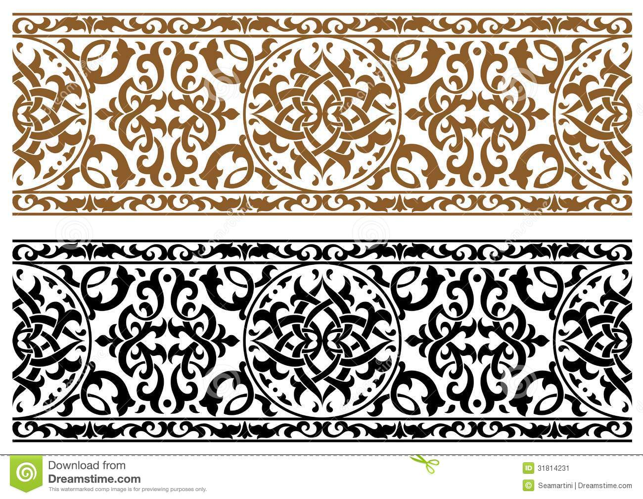 Abstract Arabic Ornament Stock Image Image 31814231