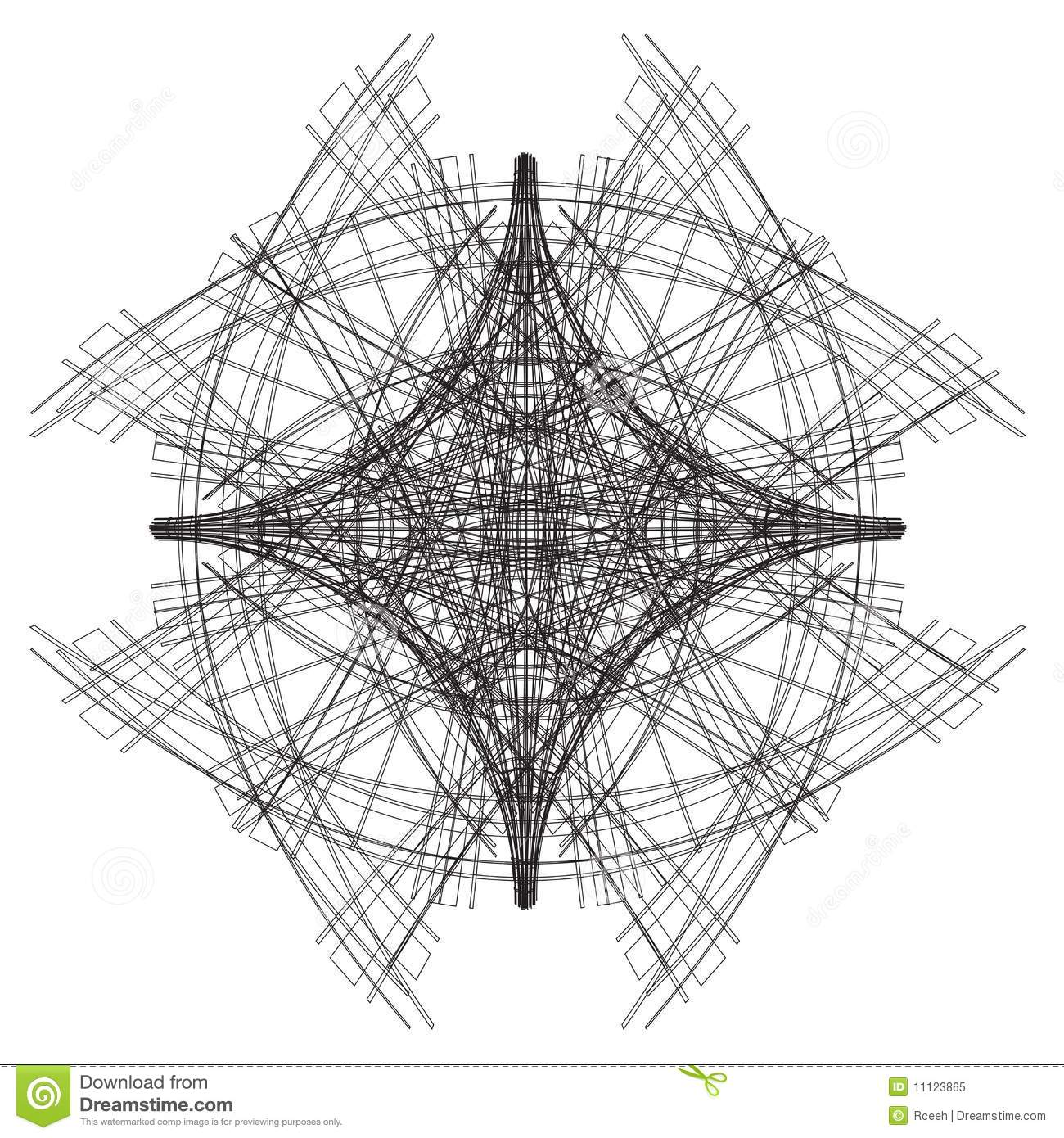 Abstract Architectural Sketch Stock Illustration