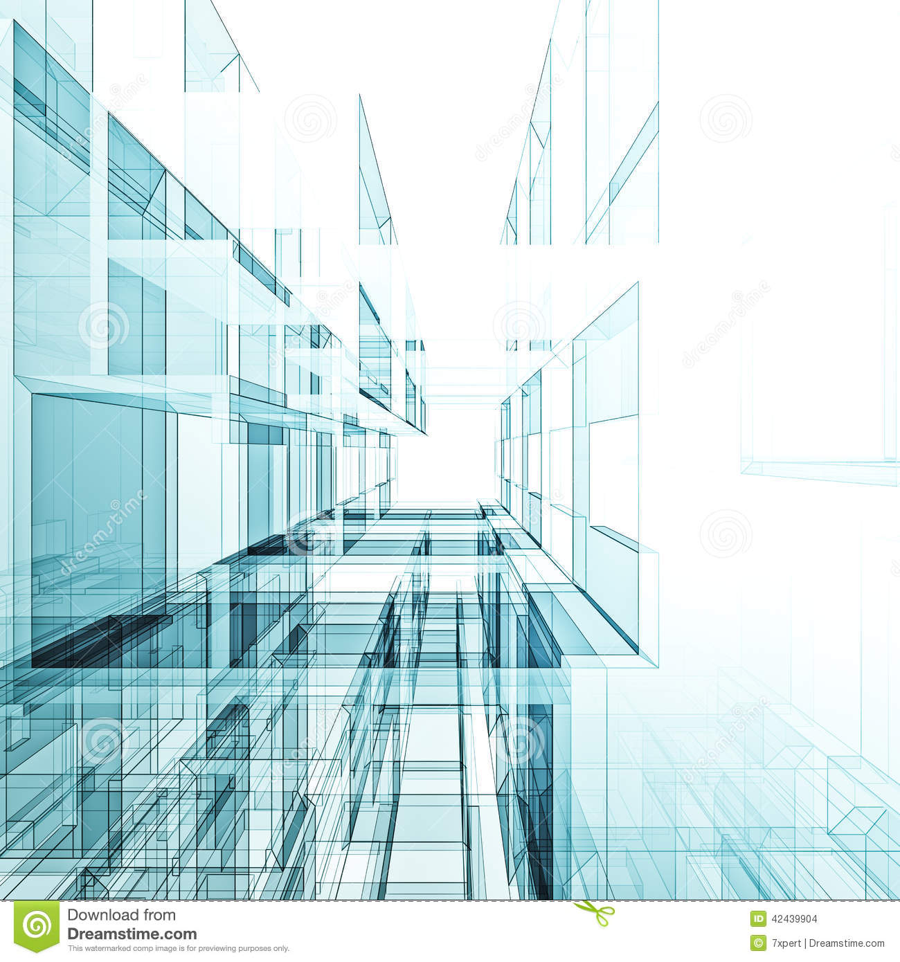 Abstract architecture background stock illustration - Architecture and design ...