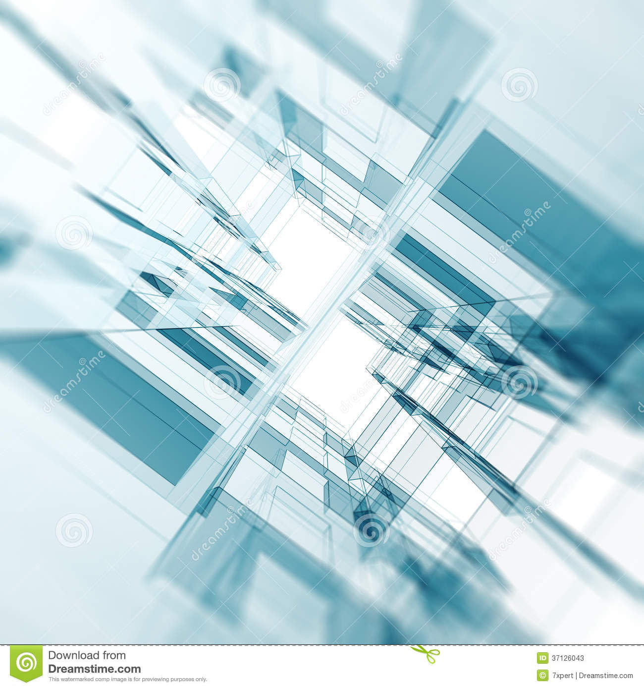 Abstract architecture background. Architecture design and model my own ...