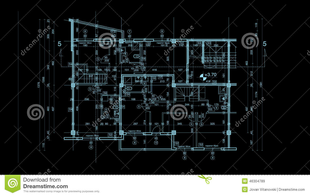 Abstract architecture blueprint stock illustration image for Architecture blueprint