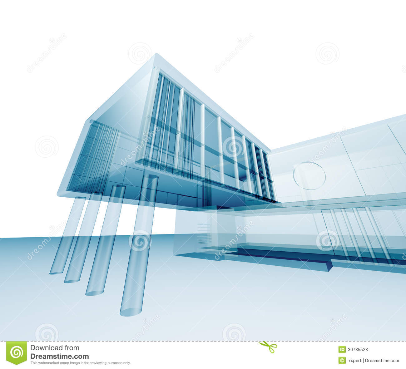 3d abstract architectural design - photo #6