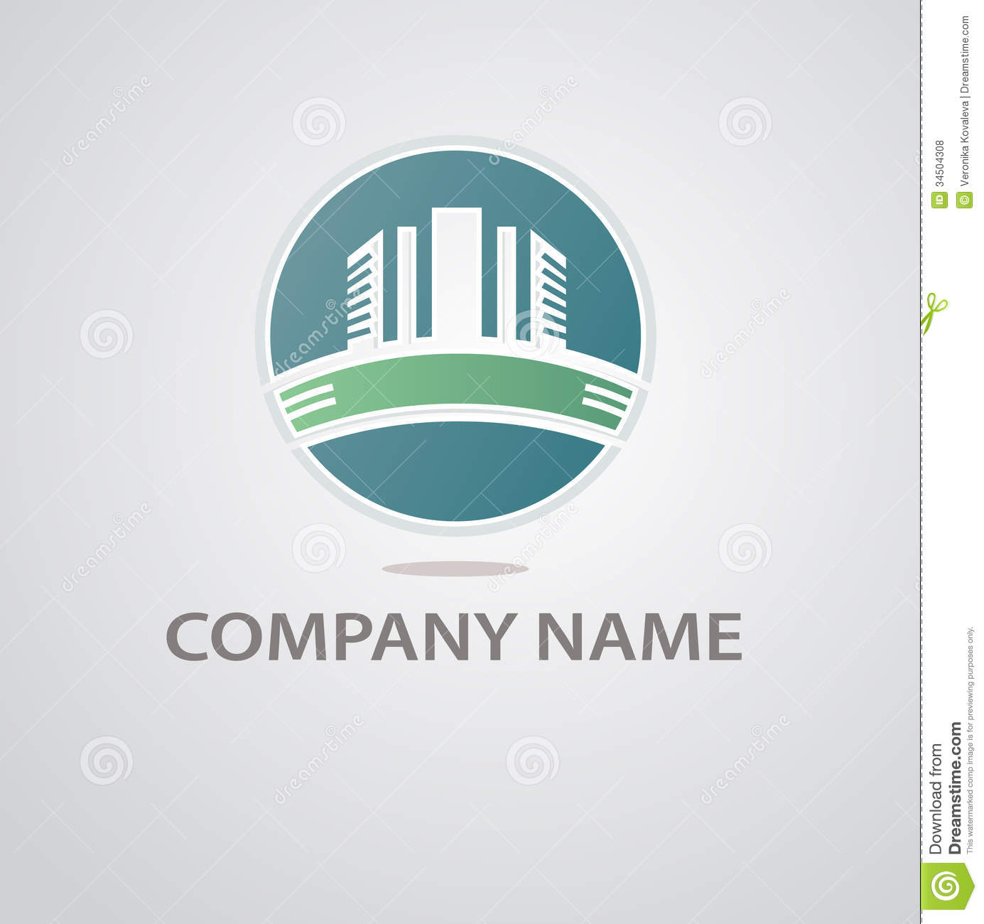 Abstract architecture building silhouette logo royalty for Architecture design company