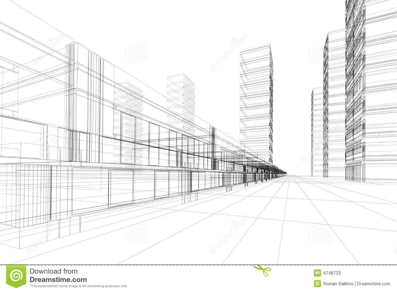 Abstract architecture construction stock illustration for Construction architect