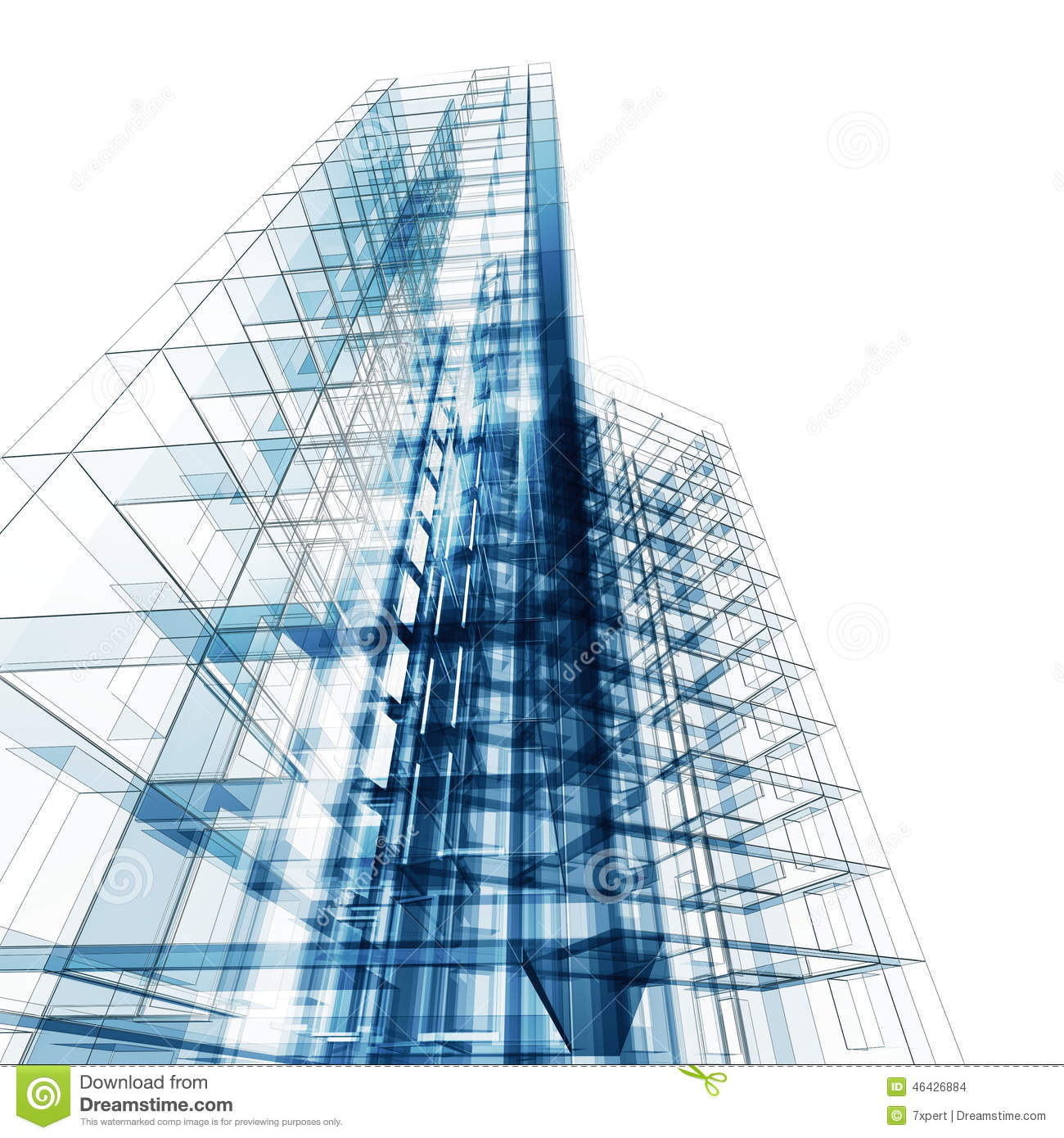 abstract architecture blueprint illustration preview
