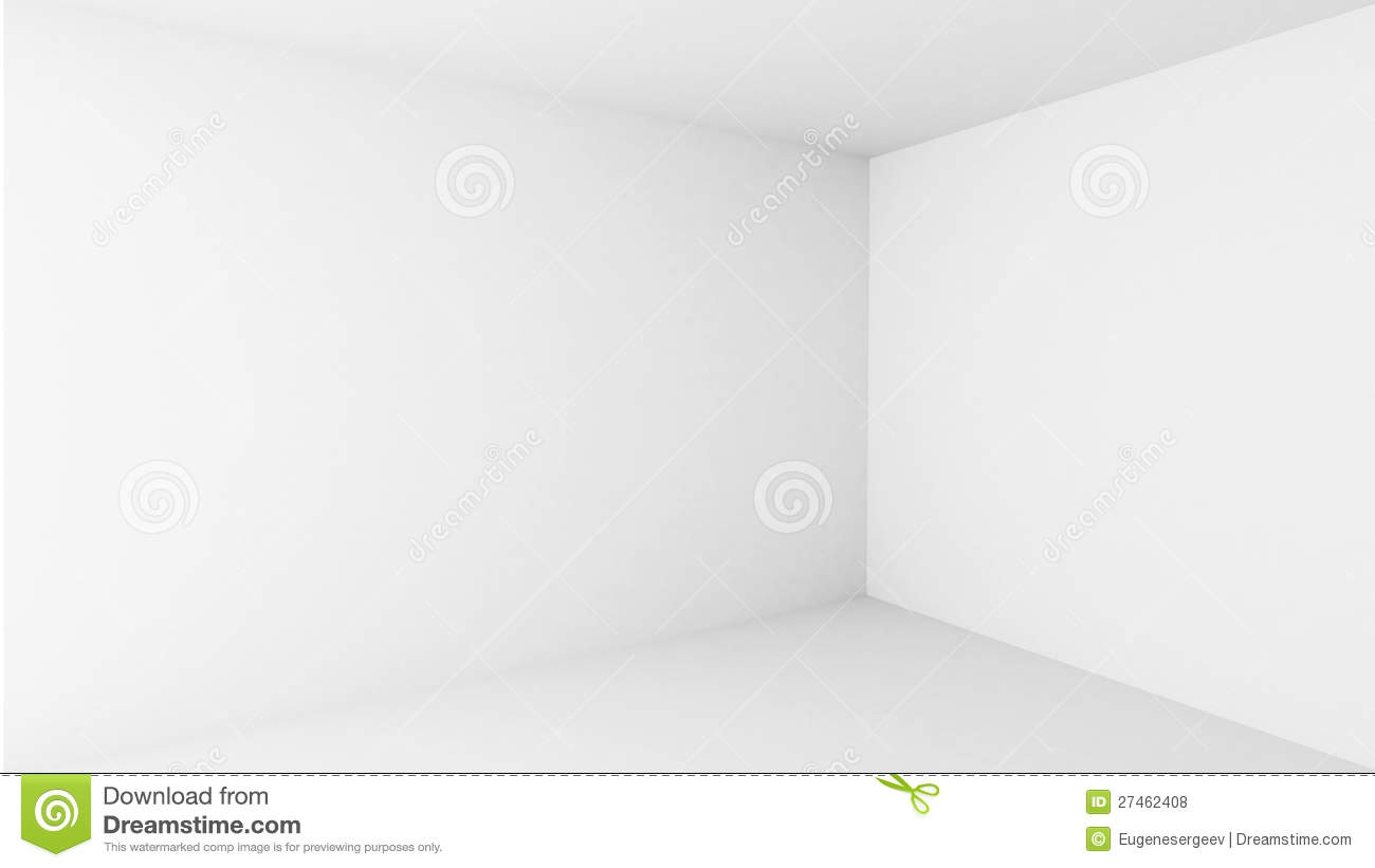 Abstract Architecture Empty White Room Interior Stock