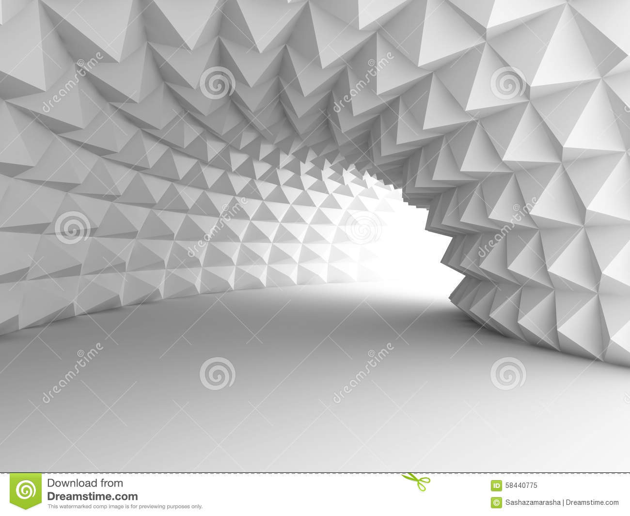 Abstract Architecture Tunnel With Light Background Stock