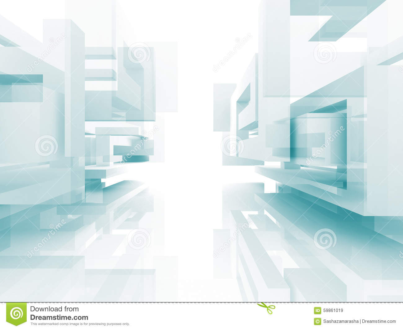 Abstract Architecture White Building Design Background