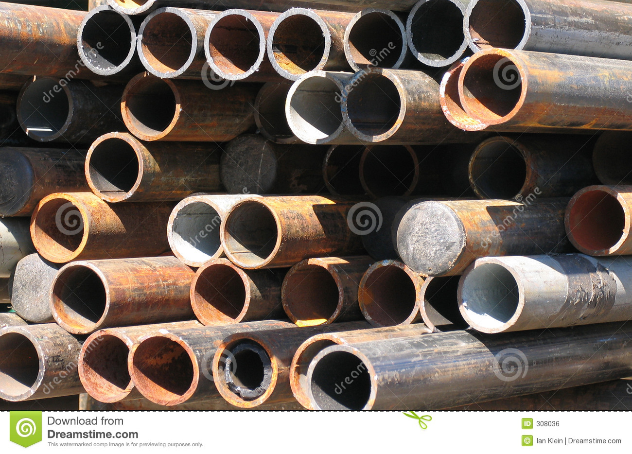 Abstract Arrangement of Corroded Steel Pipes