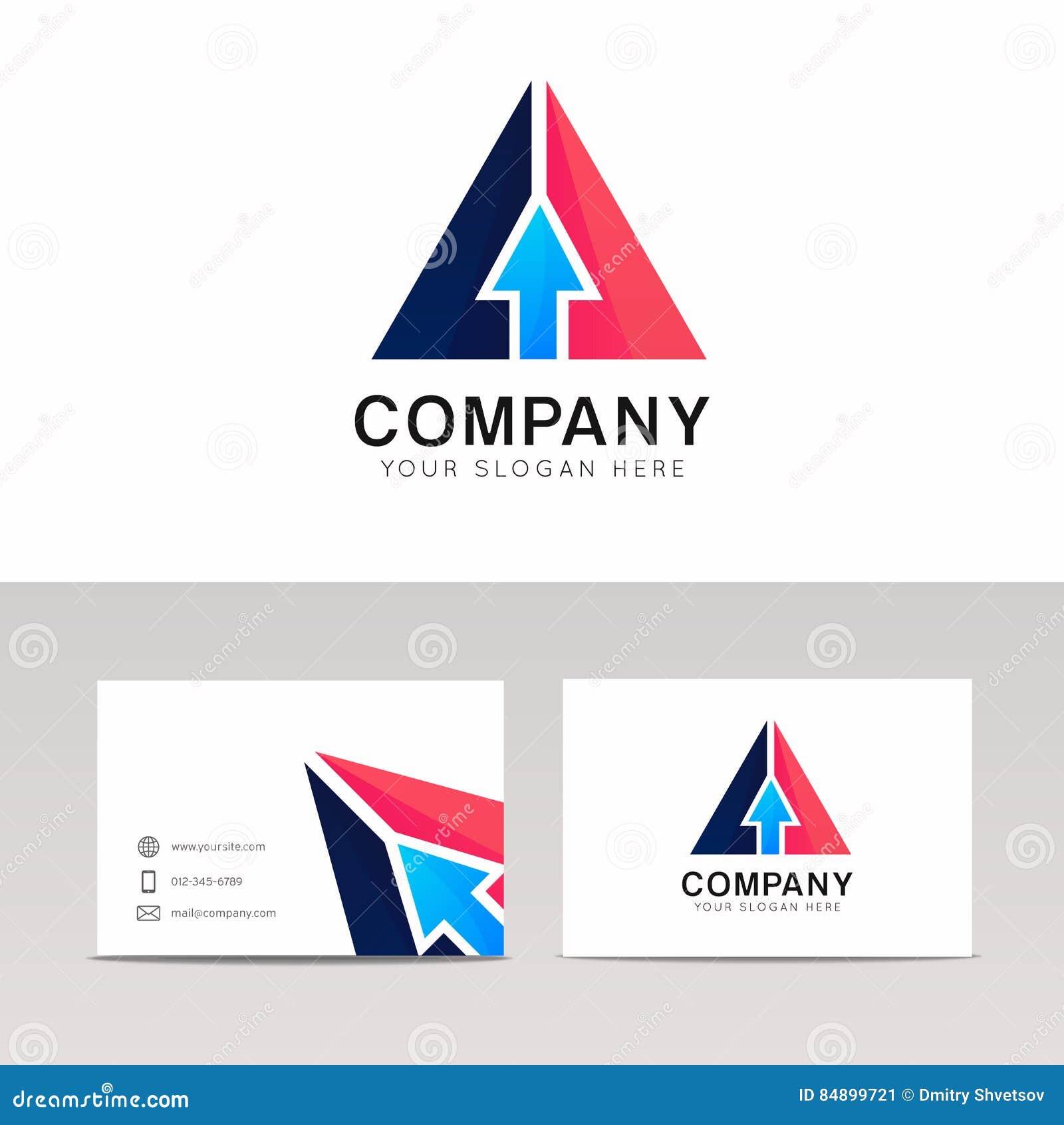 abstract arrow sign pointer icon triangle logo vector design stock