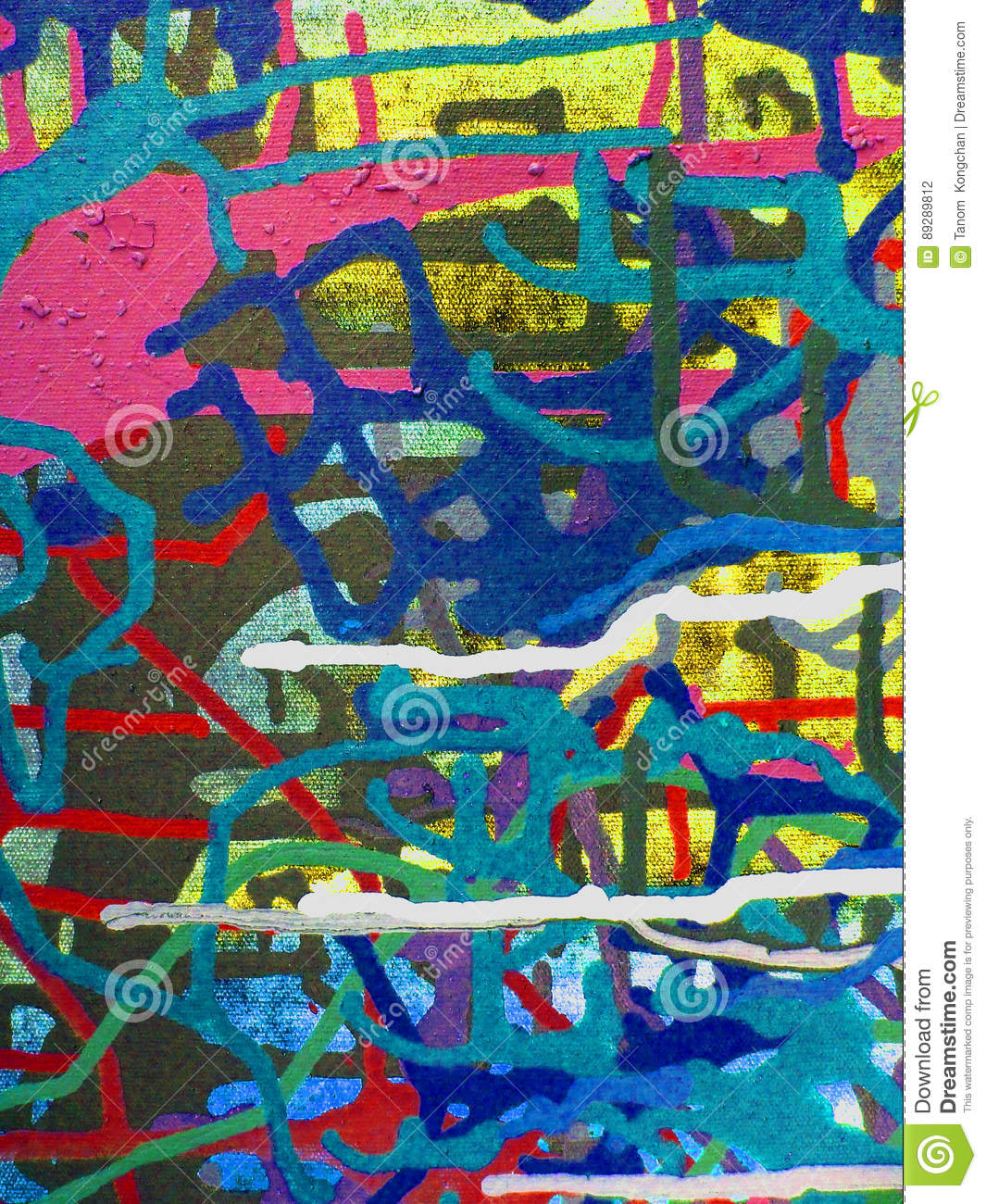 abstract art acrylic color painting on canvas of colorful background